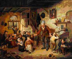Léopold Chibourg Scène de classe 1842