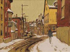 John Little, Rue St-Patrice, Québec on ArtStack Canadian Painters, Winter Painting, Objet D'art, Sculpture, Rue, Canada, Patrice, Paintings, Artwork