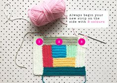 Meet Me at Mikes Log Cabin Crochet Weekend Projects, Projects To Try, 2 Colours, Quilt Blocks, Free Crochet, Charity, Crochet Patterns, Cabin, Quilts