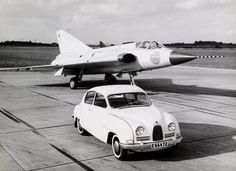 1960 Saab 96 Coupe and Saab 35 Draken