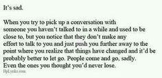 It's sad