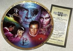 Vintage 1994 Star Trek The Movies Plate by GalleryAntiques on Etsy