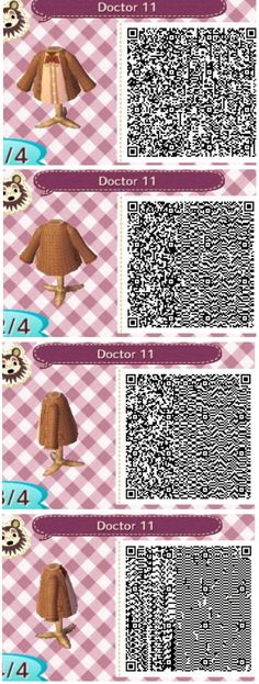 the 11th Doctor Who // Animal Crossing: New Leaf QR Codes