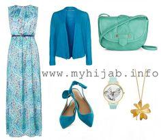 Blue Maxi Printed Dress – Combination Idea