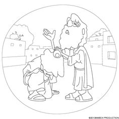 Samuel Anointing Saul Colouring Pages Page 2