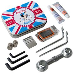 Retro Bicycle Repair Kit Complete with Tools