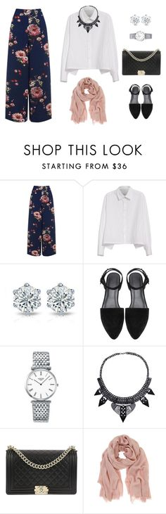 """Untitled #6"" by adekkms on Polyvore featuring Warehouse, Y's by Yohji Yamamoto, Longines, Chanel and Mint Velvet"