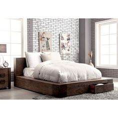 Shop For Furniture Of America Shaylen II Rustic Natural Tone Low Profile  Storage Bed. Get · Furniture OutletOnline ...