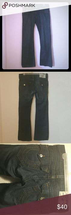True Religion Bootcut Jeans👖 Dark blue bootcut jeans. A soft jean. A little lighter spot not very noticable when wearing them. True Religion Jeans Bootcut