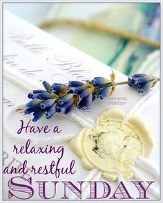 Have a relaxing and restful Sunday! ❤️