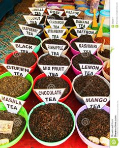 Chocolate Tea @ Traditional Market In India