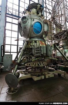 The Soviet Moon Lander built to beat the Americans to the moon. Found abandoned in a Lab in Moscow.