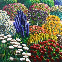 Mount Mera (2013) Karl maughan Nz Art, Creative Background, Cottage Gardens, Artist Painting, My Dream Home, Mythology, Bloom, Paintings, Artists