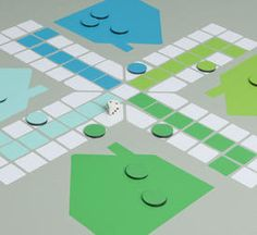 LUDO by STICKERS DELUXE  These STICKERS game stuck on the table, floor, or anywhere. Always ready for a quick game.