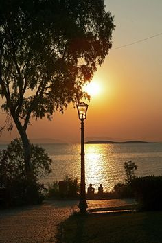 Sunset in Vouliagmeni, Athens - Greece