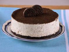 Torta de queso y galletas de chocolate