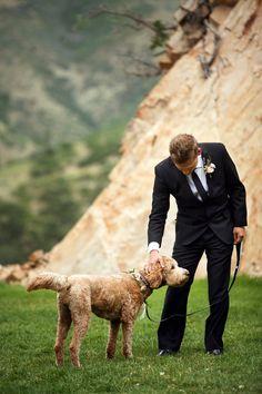 Blush mountain wedding at Louland Falls | Dog Ring Bearer | Logan Walker Photography- see more at http;//fabyoubliss.com