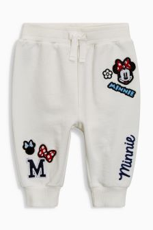 Buy White Minnie Mouse™ Joggers from the Next UK online shop Baby Girl Leggings, Leggings Are Not Pants, Disney Outfits, Kids Outfits, Kids Summer Dresses, Kids Pants, Newborn Outfits, Baby Clothes Shops, Kids Wear
