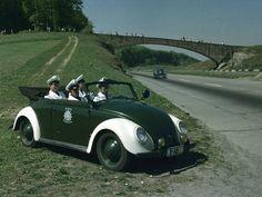 OG | 1949-1952 Volkswagen / VW Hebmüller Käfer / Beetle Typ 18A Cabriolet | #Polizei