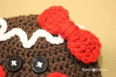 Repeat Crafter Me: Gingerbread Man Crochet Hat Pattern | Look around!