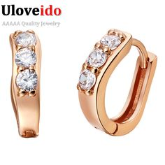 Find More Stud Earrings Information about Rose Gold Plated Earrings New Spring 2015 Earings Fashion Jewelry Simulated Diamond Accessories Brincos Ouro Ulove R555,High Quality earring bails,China earring flower Suppliers, Cheap earrings sapphire from ULOVE Fashion Jewelry on Aliexpress.com