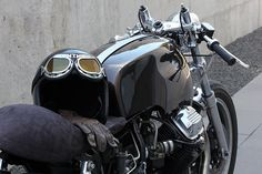 black Motoguzzi cafe racer
