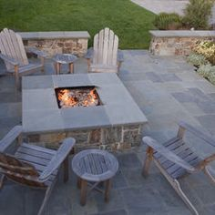 love this whole thing - fire pit with ledge - surround sitting ledge - etc