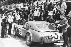 This first photo is the AC entry at Le Mans 1963. The aerodynamic hardtop cars reached 161 mph., about what a roadster with a tilt-back windshield would do.