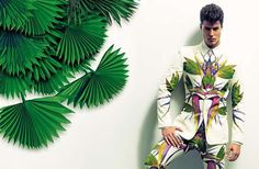 The Emilio Flores DT Spain Editorial Features Floral Fashion trendhunter.com