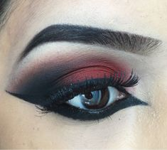 Matte Eyeshadow with heavy winged eyeliner