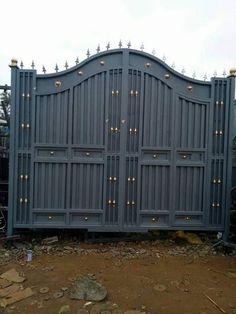 Home Gate Design, Gate Wall Design, Grill Gate Design, House Main Gates Design, Front Gate Design, Door Design, House Design, Garden Design, Modern Steel Gate Design