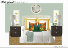 Waterfront Guest Room e-Design| Abby M. Interiors