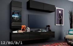 Kedvenc bútor / Modern nappali bútor CONCEPT 12 HG Bathroom Furniture, Living Room Furniture, Modern Design, Colours, Lights, Led, Modern Living, Concept, Paint
