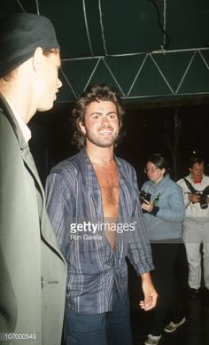 George Michael during 'Pretty In Pink' Los Angleles Premiere at Mann's Chinese Theater in Hollywood California United States