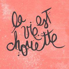 La vie est chouette! Étampe www.tchoubi.com