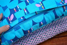 How to make a pillow case with zipper, in a very neat way :)
