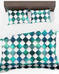 Moderná zeleno biela obliečka do spálne (1) Quilts, Blanket, Bed, Home, Stream Bed, Quilt Sets, Ad Home, Blankets, Homes