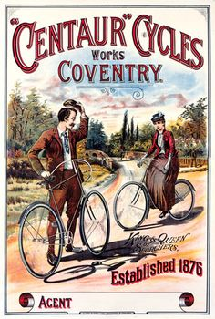 ADVERT TRANSPORT PSYCHO CYCLES COVENTRY UK RETRO VINTAGE POSTERPRINT BB8041B