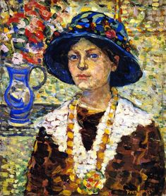 Portrait of a Girl with Flowers  Maurice Prendergast