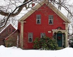 sweet little cottage all decorated for christmas
