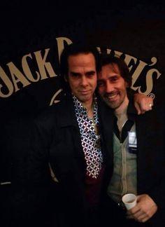 Nick Cave and Cristiano Godano from Marlene Kuntz