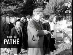 The funeral of #DylanThomas at St Martin's Church, Laugharne, November 24 1953
