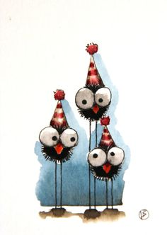 Party crows by stressiecat on Etsy, $16.00