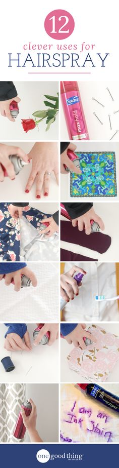 Clever ideas for using a bottle of hairspray!