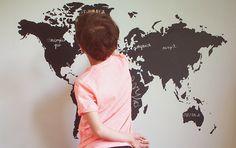 Dekornik.pl wallsticker board map on boginieprzymaszynie.pl :)