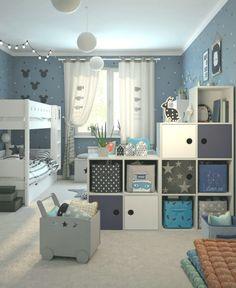 Agencement Cuisine: Kinderzimmer Galerie - Nadja Home Kids Bedroom Designs, Kids Room Design, Cool Kids Rooms, Boys Room Decor, Baby Boy Rooms, Girl Room, Decoration, Home Decor, Kids Corner