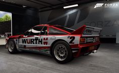 Lancia 037 World Rally Car – One of the original 450bhp group B monsters that were outlawed by the F.I.A in the late 1980s after a number of horrendous crashes – styled with my own version of the livery of industrial giant and regular motorsport sponsor – WÜRTH - once again everything has been created using the Forza 6 in-game collage system.