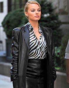 Celebrities In Leather: Margot Robbie