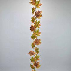 Διακοσμητική γιρλάντα με φύλλα Σφενδάμου Πράσινο - Καφέ 180cm   eshop-dcse