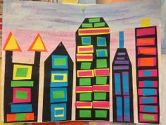 2d cityscape /sky scrapers.